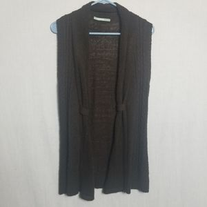 Marurices long  brown sweater vest